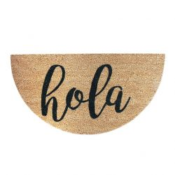 Doormat Hola | Brown-Black