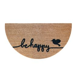 Doormat Be Happy | Brown-Black