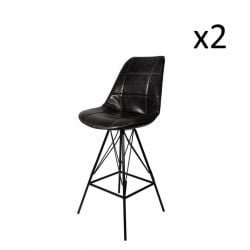 Staten Bar Stool | Set of 2 | Black