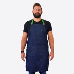 Denim Apron in Jam Jar | Green