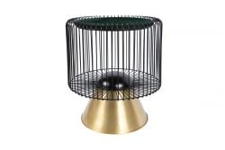 Table d'Appoint Orelie 333 | Vert-Noir-Or