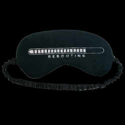 Sleep Mask Plush Rebooting | Black