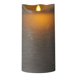 LED Candle Sara Spa Exclusive H 20 cm | Grey