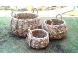 Bowl Abaca Set of 3 | Natural