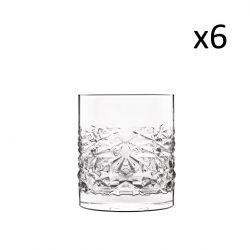 Set van 6 Lage Glazen Textures