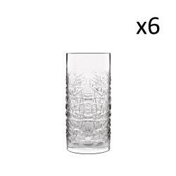 Set van 6 Hoge Glazen Textures
