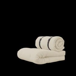 Stuhlschnalle | Beige mit braunem Gürtel