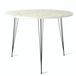 Tisch Sandalf Marmo | Schwarz-Weiß