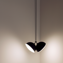 Pendant Lamp Nod Double | Matt Black