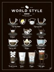 Poster World Style Coffee | Schwarz