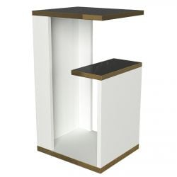 Side Table Ravenna | White / Gold / Black