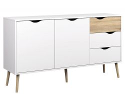 Sideboard with 2 Doors & 3 Drawers | White