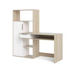 Multifunctioneel bureau met boekenkast