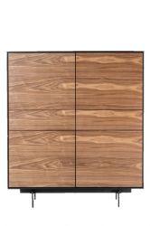 Schrank 4 Türen & 2 Schubladen Siviglia | Nussbaum & Mattschwarz