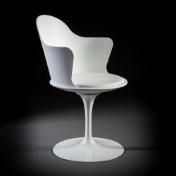 Turning Arm Chair Granada | White