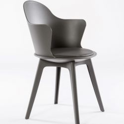 Set of 2 Dining Chairs Varsavia | Grey & Polypropylene Legs