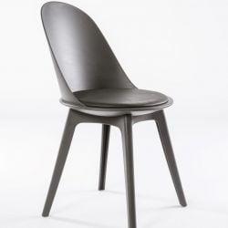Set de 2 chaises de salle à manger Varsavia U450 | Gris et pieds en polypropylène