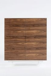 4 Doors and 2 Drawers Cabinet Siviglia | Dark Walnut & Matt White