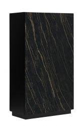 Cabinet 2 Doors Gorizia | Dark Marble & Black