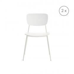 2er-Set Stühle Pavia | Mattweiß