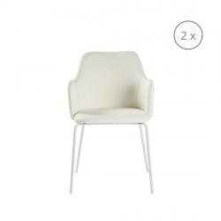 2er-Set Stühle Oslo | Weiß