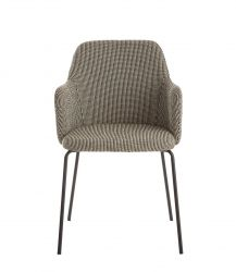 Dining Chair Oslo | Grey / Black Dots