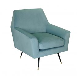 1 Seater Sofa Marsala | Light Blue