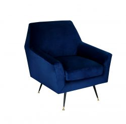 1 Seater Sofa Marsala | Dark Blue