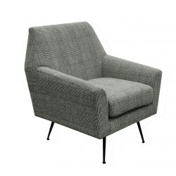 1 Seater Sofa Marsala | Checks Grey