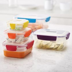 Set of 5 Food Containers Nest Lock