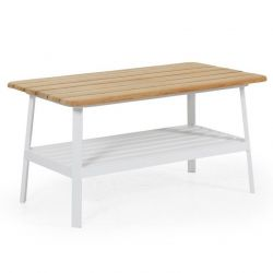 Coffee Table Olivet 150 cm | Teak + White Legs