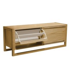 NewEst Shoe Bench 2 Door | Oak