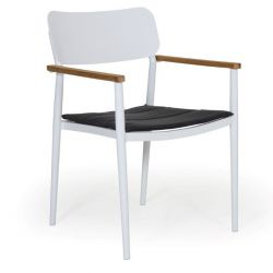 Domingo Dining Chair | White & Grey