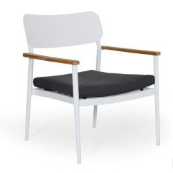 Domingo Lounge Chair | White & Grey