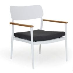 Domingo Lounge Chair | Weiß & Grau