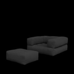 Sofa/Bed Cube | Dark Grey