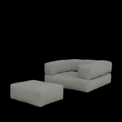 Sofa Bed Cube | Grijs