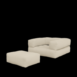 Sofa/Bettwürfel | Beige