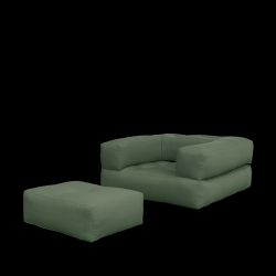 Sofa Bed Cube | Olive Green