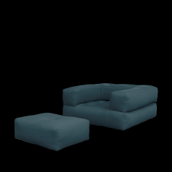 Sofa Bed Cube | Petrol Blue