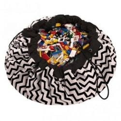 Toy Storage Bag | Zig Zag Black