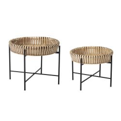 Ensemble de 2 tables d'appoint | Naturel