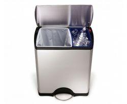 Waste Bin Classic Recycler | 30 + 16 L | SilverSH 006826