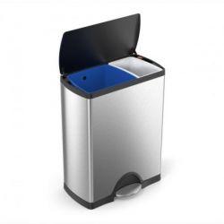 Waste Bin Classic Recycler | 30 + 16 L | Silver & Black