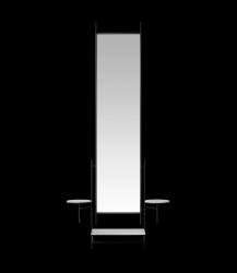 Wandspiegel | Schwarz-weißer Marmor