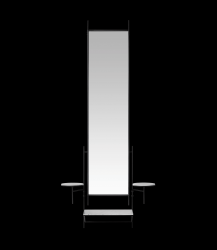 Wandspiegel | Zwart-wit marmer