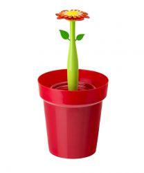 Poubelle Salle de Bain Flower Power 3L | Rouge