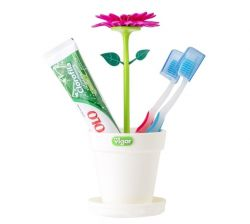 Porte-brosse à Dents Flower Power | Blanc