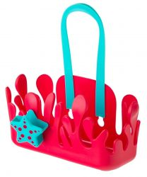 Bathroom Rack Holder with Suction Pad | Red