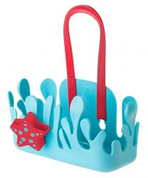 Bathroom Rack Holder with Suction Pad | Blue